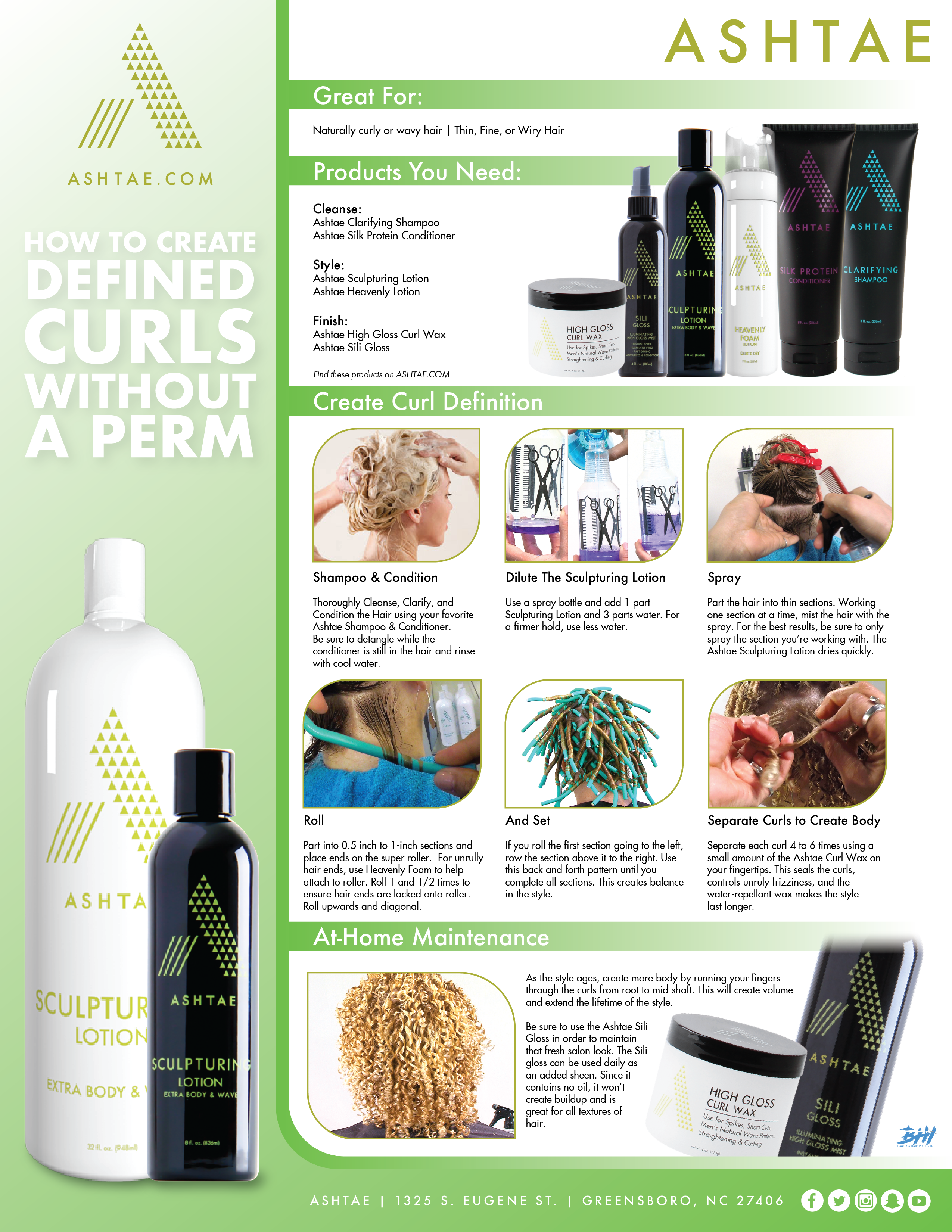 Defined Curls Infographic